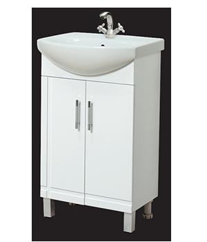 Долен шкаф за баня с мивка Рубик