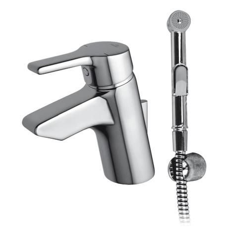 Active Смесител стоящ за умивалник с хигиеничен ръчен душ