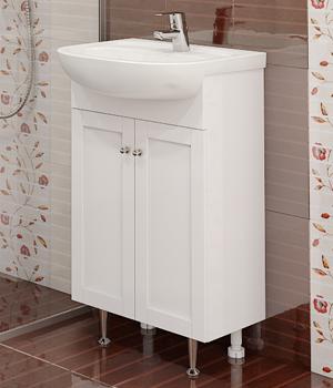 Долен шкаф за баня с мивка Коло