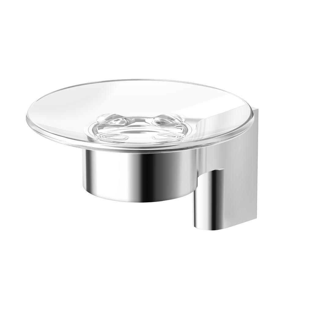 Connect Стъклена сапуниера с държач