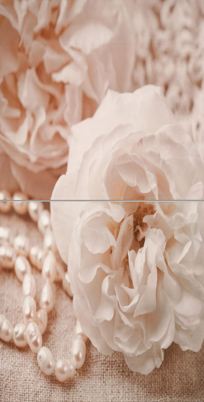 Бали Рози с перли комплект