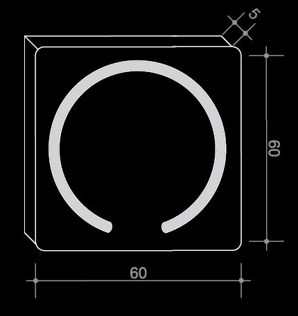 Огледало с LED осветление в кръгла форма