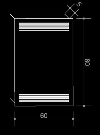 Огледало с вградено LED осветление в правоъгълна форма