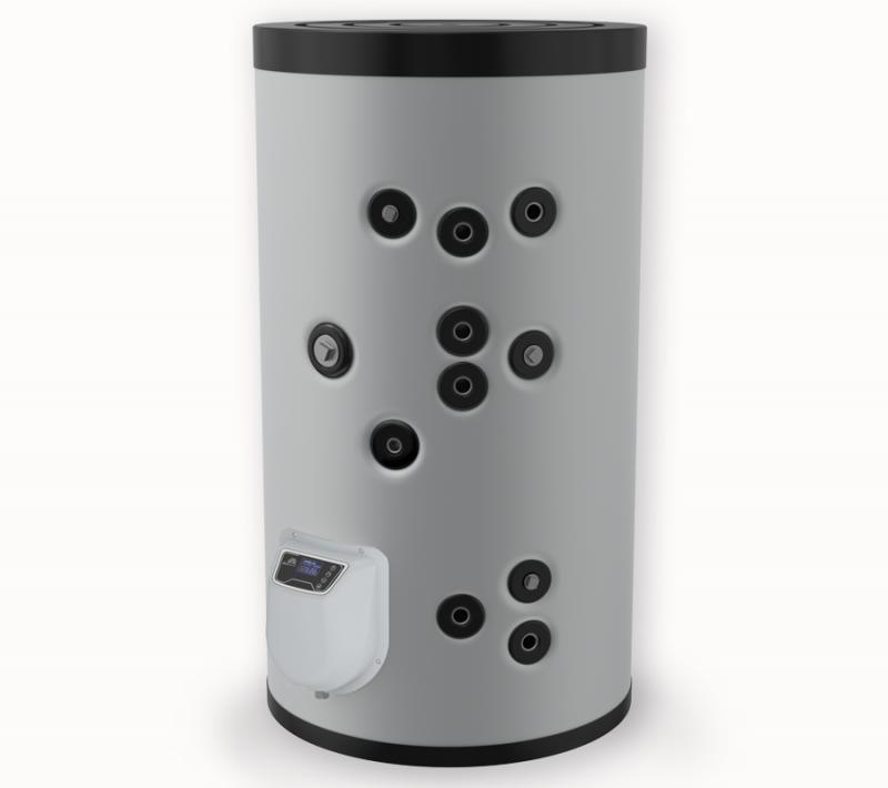Бойлер ЕЛДОМ стоящ 200 л, две серпентини, електронно управление, емайлиран