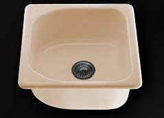 Единична мивка 51х51см. дълбочина 21см.