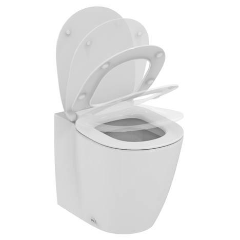 Connect Ултра тънка тоалетна седалка от дуропласт с плавно затваряне