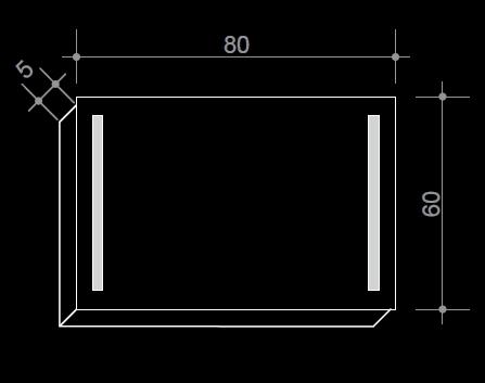 Огледало с LED осветление - топла/студена светлина