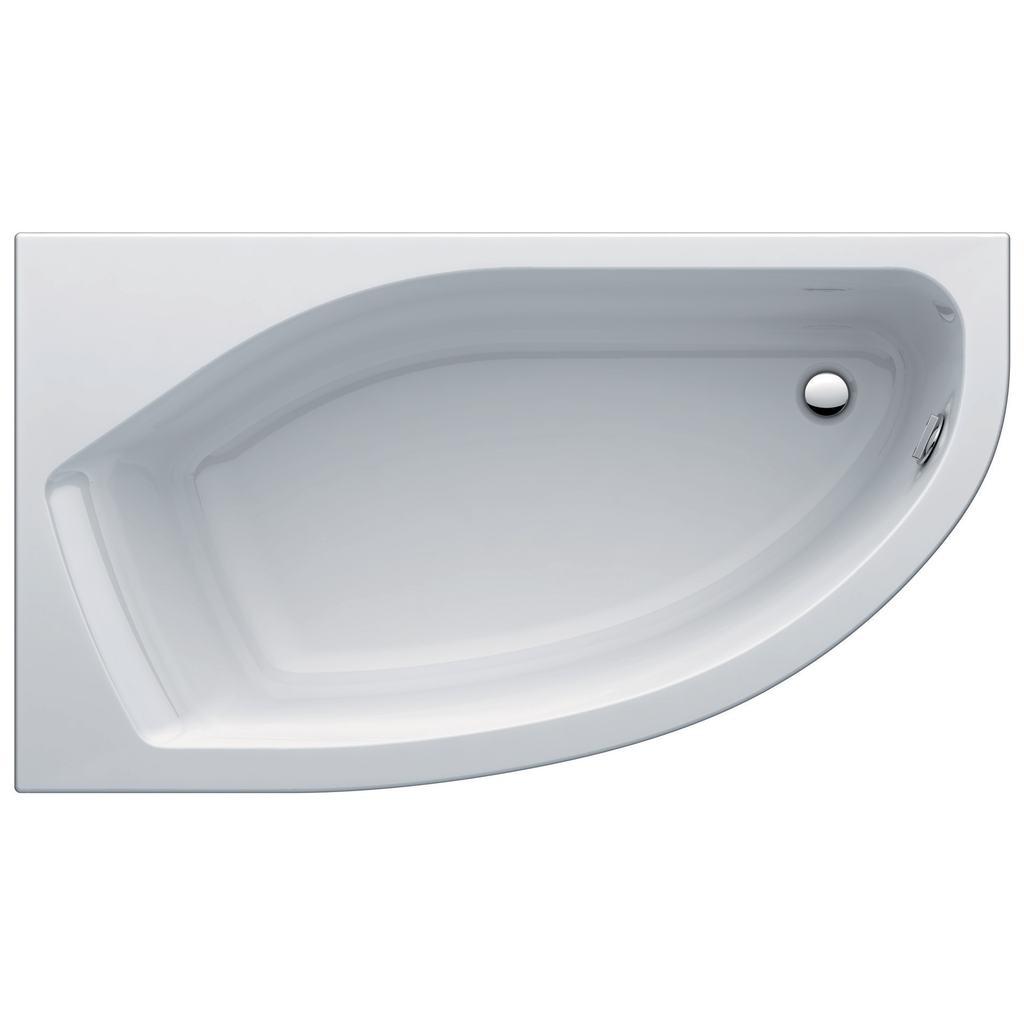 Active Асиметрична вана 160x90 cm, лява версия, пълен комплект