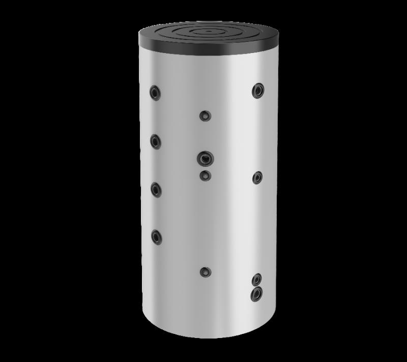 Буферен съд 750 л, една серпентина, неемайлиран