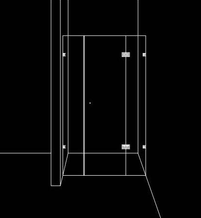 Душ преграда от три части с 1 врата
