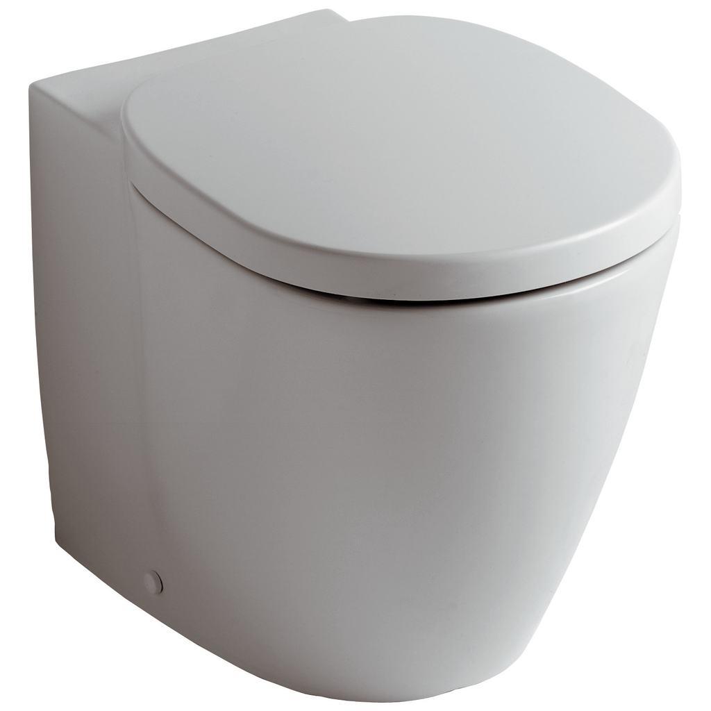 Стояща тоалетна чиния с плътно прилепване към стената, със затворен ринг Ideal Standard E803401