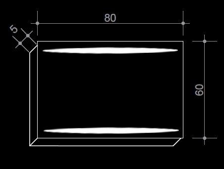 Огледало с LED осветление - 80/60 см