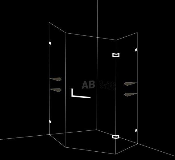 Петоъгълна душ кабина с 1 врата 80х60