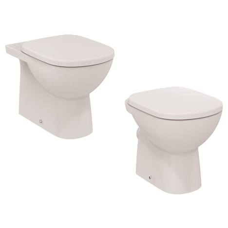 Tempo Стояща тоалетна чиния с плътно прилепване към стената