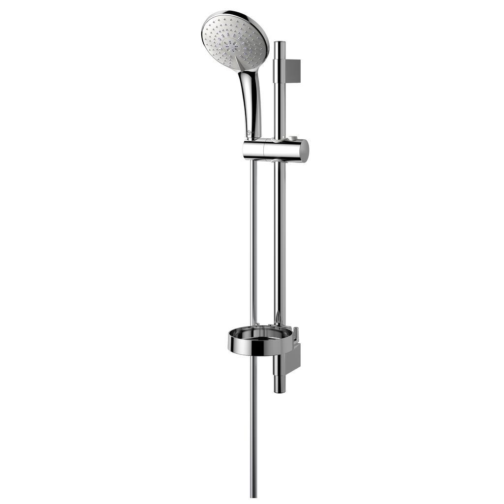 Idealrain Душ комплект, тръбно окачване 600 mm с трифункционален ръчен душ L3