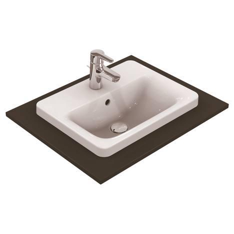 Connect Мивка за вграждане 50 cm, правоъгълна, с отвор за смесител