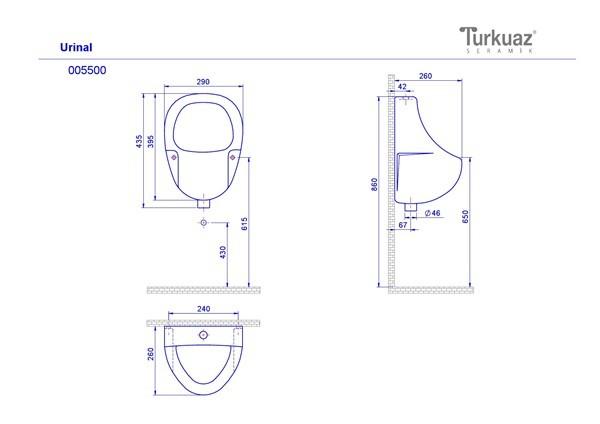 Техническа спецификация  Преграда за писоар, Артикул номер: 06440; Нова серия, Артикул номер: 08277;