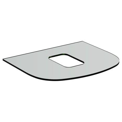 Dea Бял стъклен плот 60 cm