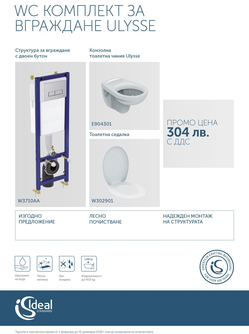 WC Комплект за вграждане ULYSSE