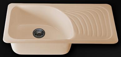 Мивка с десен плот 90х49см. дълбочина 21см.