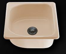 Единична мивка 51х56см. дълбочина 21см.