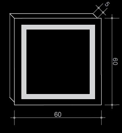 Огледало с LED осветление в квадратна форма