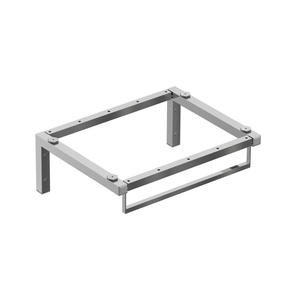 Softmood Метална рамка с хавлийник за самостоятелна инсталация на плот 60 cm