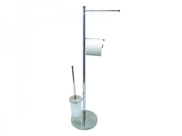 WC сет стоящ с WC четка с капак и пръчка за хавлия - 411