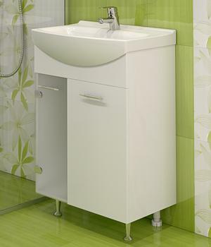 Долен шкаф за баня с мивка Креми 2