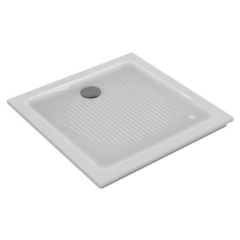 Connect Квадратно поддушово корито за вграждане с отвор за сифон към стената 80 x 80 x 6 cm