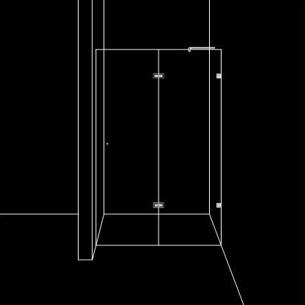 Скосена душ преграда с 1 врата