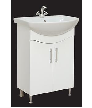 Долен шкаф за баня с мивка Силва