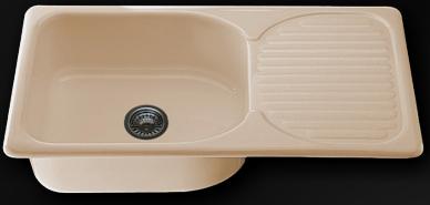 Мивка с ляв/десен плот 95х49см. дълбочина 21см.