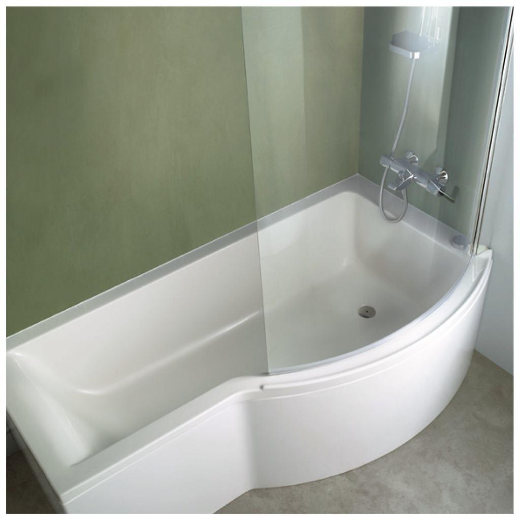 Connect Заоблен параван за вана 100 х 150 cm (само за CONNECT Shower акрилни вани)