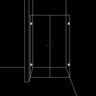 Душ преграда от 2 отваряеми врати