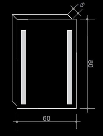 Огледало с LED осветление 60/80 см