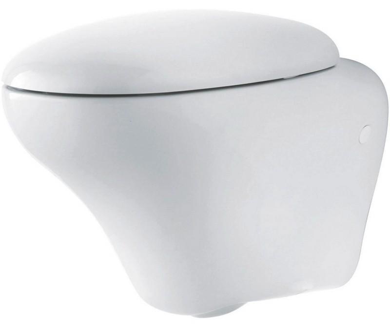 Висяща тоалетна и капак с метални панти Ego - KOLO