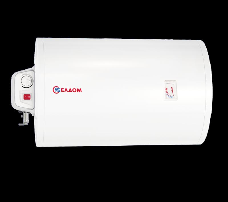 Бойлер ЕЛДОМ 50 л, 2 kW, хоризонтален, емайлиран