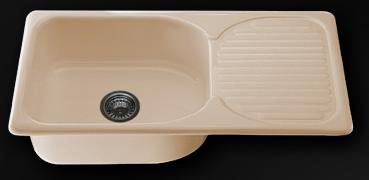 Мивка с ляв/десен плот 80х49см. дълбочина 21см.