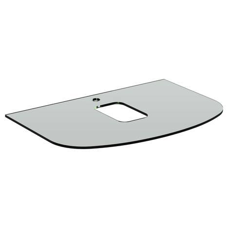 Dea Бял стъклен плот 80 cm