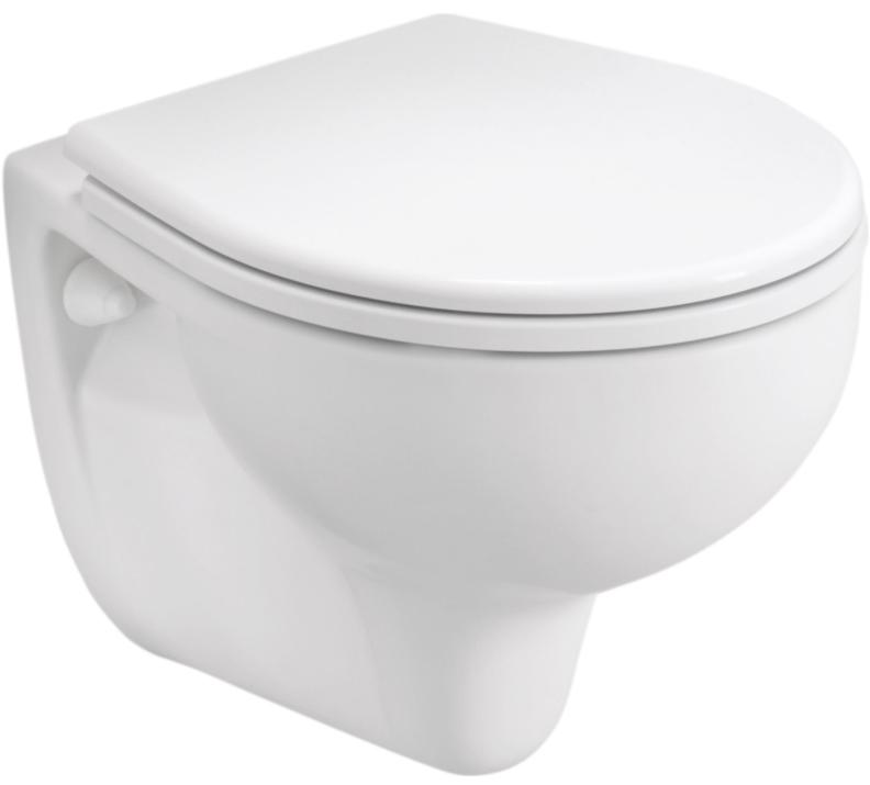 Висяща тоалетна чиния и седалка с капак Rekord - KOLO