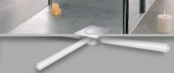 Сифон за баня с 3(три) отводнителни отвора  от неръждаема стомана. Серията разполага с два механизма: въртящ механизъм или болтов механизъм.  Размери: 15х15; 20х20;