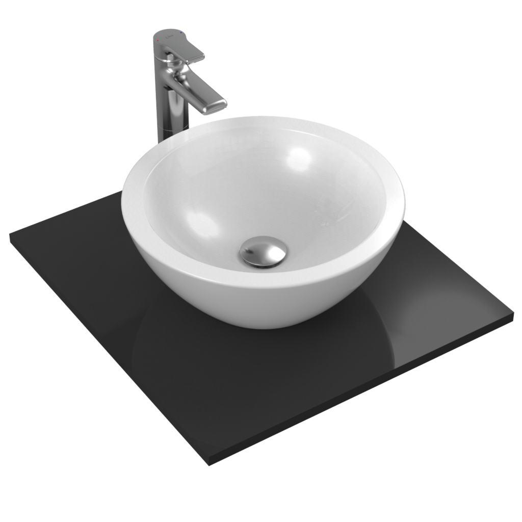 """Strada """"О"""" Кръгла мивка за монтаж върху плот 42x42 cm Ideal Standard K078301"""