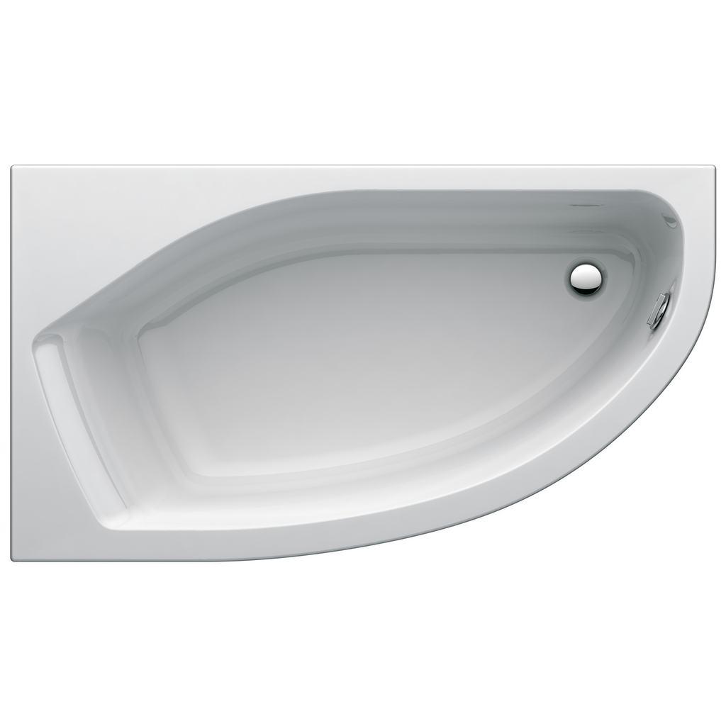 Active Асиметрична вана 160x90 cm, лява версия, за вграждане