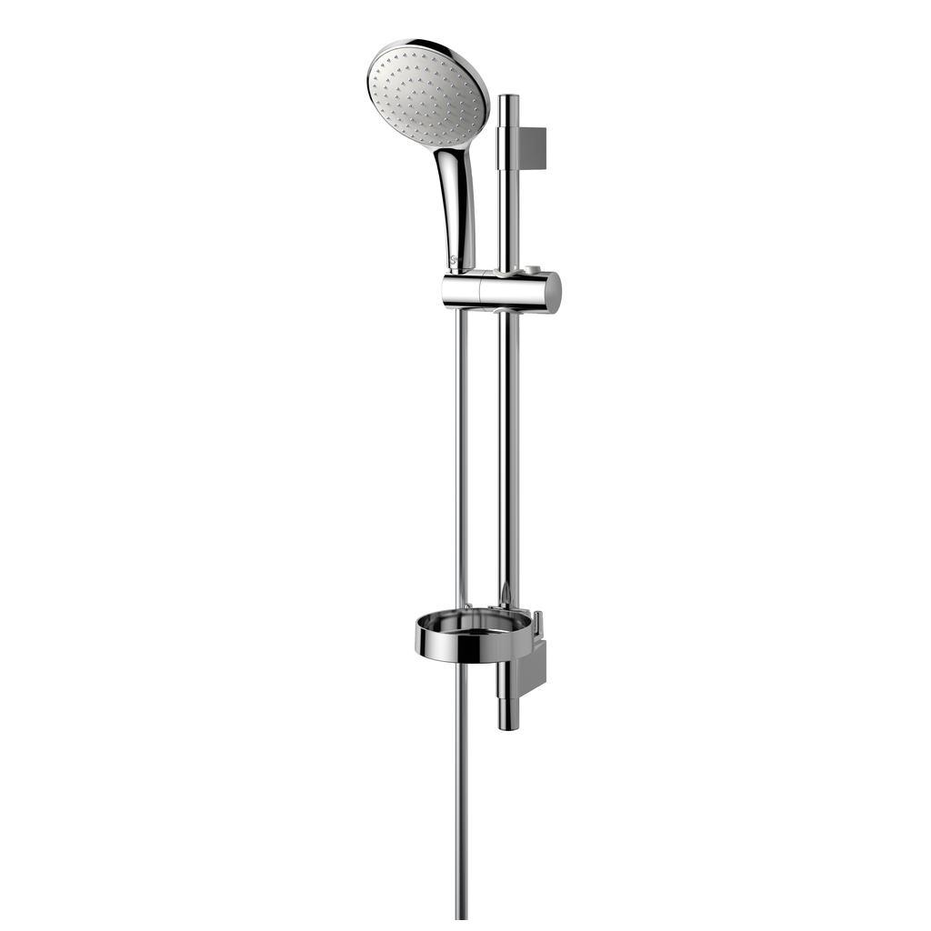 Idealrain Душ комплект, тръбно окачване 600 mm с еднофункционален ръчен душ L1