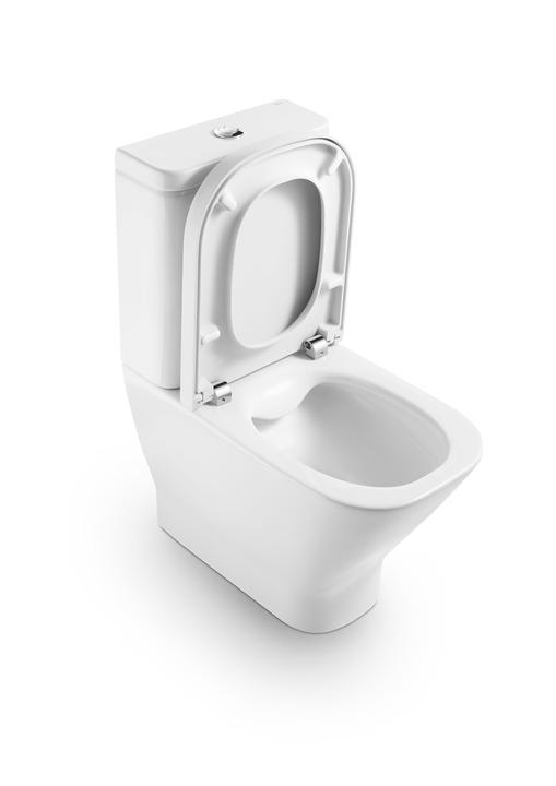 Порцеланова компактна тоалетна чиния Rimless с двойно оттичане The Gap - ROCA A34273700H