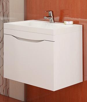 Долен шкаф за баня с мивка Мали