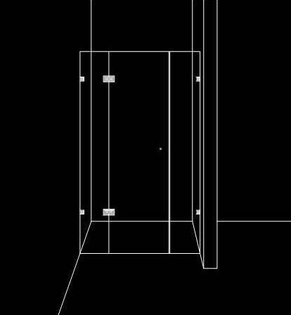 Прозрачна душ преграда с 1 отваряема врата