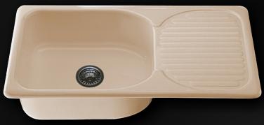 Мивка с ляв/десен плот 90х49см. дълбочина 21см.