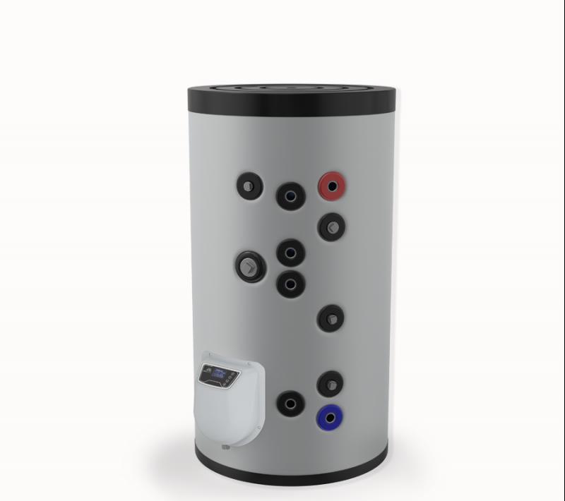 Бойлер ЕЛДОМ стоящ 150 л, две серпентини, електронно управление, емайлиран